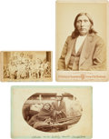 American Indian Art:Photographs, Three Interesting Indian Photos. ... (Total: 3 Items)