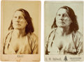 American Indian Art:Photographs, Chief Gall: Two Cabinet Cards Featuring this Iconic Image. ... (Total: 2 Items)
