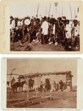American Indian Art:Photographs, Two Interesting Indian Cabinet Photos.... (Total: 2 Items)