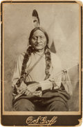 American Indian Art:Photographs, Sitting Bull: A Scarce Goff Cabinet Photograph. ...