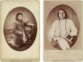 American Indian Art:Photographs, Sitting Bull and Steps: Two 1882-dated Bailey, Dix & Mead Cabinet Photos. ... (Total: 2 Items)