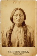 American Indian Art:Photographs, Sitting Bull: A Fine Early, 1885-Dated Cabinet Photograph byBarry....