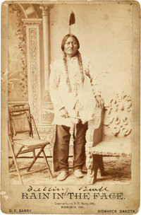 "Sitting Bull: An 1885-Dated ""Error"" Cabinet Photograph by D. F. Barry"