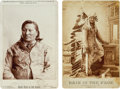 American Indian Art:Photographs, Rain-in-the-Face: Two Exceptionally Nice Cabinet Photographs....(Total: 2 Items)