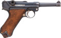 Handguns:Semiautomatic Pistol, German DWM 1918 Luger Semi-Automatic Pistol with Leather Holster....