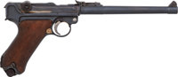 German DWM 1917 Artillery Luger Semi-Automatic Pistol with Shoulder Stock and Snail Drum