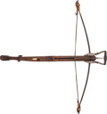 Long Guns:Other, Bone Inlaid and Iron Mounted Crossbow....