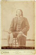 Autographs:Celebrities, Red Cloud: An Uncommon Cabinet Photograph by Cross, Hot Springs,S.D., Which Once Belonged to Capt. Jack Crawford. ...