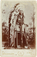 American Indian Art:Photographs, Oklahoma Territory Cabinet Photograph by Stevenson, El Reno....