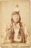 American Indian Art:Photographs, Rain-in-the-Face: An 1885-dated D. F. Barry Cabinet Card....