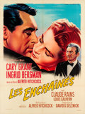 "Movie Posters:Hitchcock, Notorious (RKO, R-1958). French Grande (47"" X 63"").. ..."