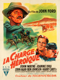 "Movie Posters:Western, She Wore a Yellow Ribbon (RKO, 1949). French Grande (46.5"" X 63"").. ..."