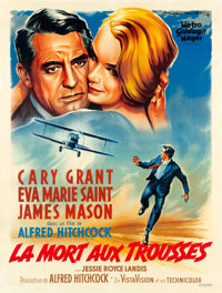 "North by Northwest (MGM, 1959). French Grande (47.25"" X 62.75"")"