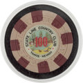 Miscellaneous:Gaming Chips, Lake Tahoe: $100 Casino Chip....