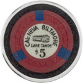 Miscellaneous:Gaming Chips, Lake Tahoe: Casino Chip....