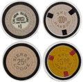 Miscellaneous:Gaming Chips, Lake Tahoe: Assorted Casino Chips.... (Total: 4 Items)