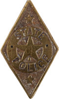 Militaria:Insignia, Texas State Police: A Vintage Brass Badge....