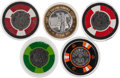 Miscellaneous:Gaming Chips, Las Vegas: Desert Inn Casino Chips.... (Total: 5 Items)
