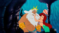 Animation Art:Production Cel, The Little Mermaid Ariel and King Triton Production Cel(Walt Disney, 1989)....