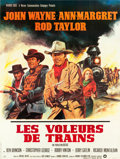 "Movie Posters:Western, The Train Robbers (Warner Brothers, 1973). French Grande (46"" X61"").. ..."
