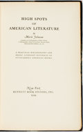 Books:Reference & Bibliography, [Bibliography]. Merle Johnson. LIMITED. High Spots of AmericanLiterature. New York: Bennett Book Studios, 1929. Fir...