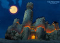 Animation Art:Production Drawing, Gargoyles Scottish Castle Production Background (Walt Disney, 1994)....