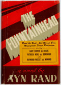 Books:Literature 1900-up, Ayn Rand. The Fountainhead. Bobbs-Merrill, [1943]. Movietie-in edition. Publisher's blue cloth and original dust ja...