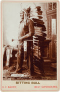 American Indian Art:Photographs, Sitting Bull: A Choice Example of this D. F. Barry Cabinet Photo....