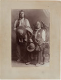 American Indian Art:Photographs, Curley and Big Medicine: A Rare Large-Format Albumen Photograph ofthe Two Wearing Indian Police Badges....