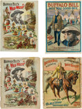 Miscellaneous:Ephemera, Buffalo Bill's Wild West: Four Programs Dating 1895, 1898, 1907,and 1910.... (Total: 4 Items)