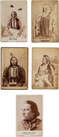 Photography:Cabinet Photos, Five D. F. Barry Cabinet Photos of Well-known Chiefs.... (Total: 5 Items)