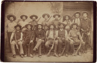 J. Walter Durbin: Iconic Original 1888 Cabinet Photo of Texas Rangers' Famed Company D