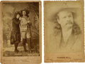 "Western Expansion:Cowboy, ""Pawnee Bill"" Lillie: Two Early 1880s Vintage Cabinet Photographs.... (Total: 2 Items)"