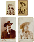 """Photography:Cabinet Photos, William F. """"Buffalo Bill"""" Cody: Vintage Carte de Visite and Cabinet Photos.... (Total: 4 Items)"""