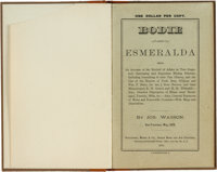 Bodie and Esmeralda, California: An Important 1878 Volume by Joseph Wasson, San Francisco