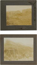 Western Expansion:Goldrush, Two Fine Original Alaska Yukon Mining Photos by Goetzman of Dawson.... (Total: 2 Items)