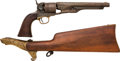Handguns:Single Action Revolver, Rare Engraved Colt Model 1860 Army Revolver and Shoulder Stock.... (Total: 2 Items)