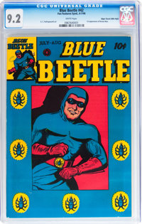 Blue Beetle #42 Mile High pedigree (Fox Features Syndicate, 1946) CGC NM- 9.2 White pages