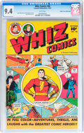 Golden Age (1938-1955):Superhero, Whiz Comics #90 Mile High pedigree (Fawcett Publications, 1947) CGC NM 9.4 White pages....