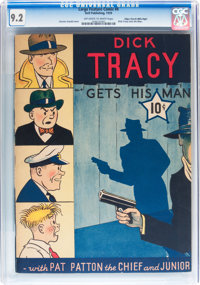 Large Feature Comic (Series I) #4 Dick Tracy - Mile High pedigree (Dell, 1939) CGC NM- 9.2 Off-white to white pages
