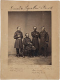 Autographs:U.S. Presidents, Benjamin Harrison Civil War Photograph Signed, circa March1865....