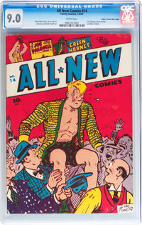 All New Comics #14 Mile High pedigree (Family Comics, 1947) CGC VF/NM 9.0 White pages