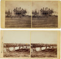 Photography:Stereo Cards, Civil War Stereoviews (Two) of Fredericksburg, Virginia, by Alexander Gardner. ... (Total: 2 )