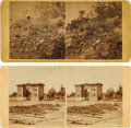 Photography:Stereo Cards, Civil War Stereoviews (Two) of Gettysburg, Pennsylvania, by Alexander Gardner.... (Total: 2 )