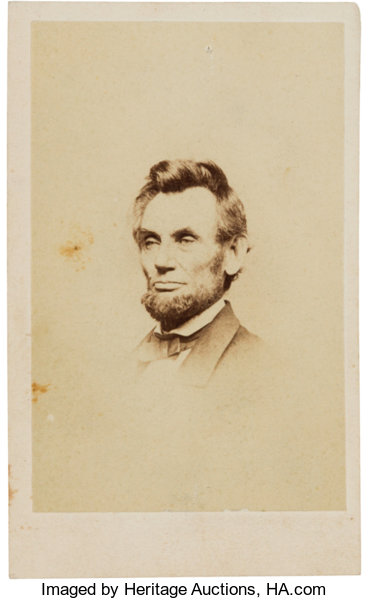 PhotographyCDVs Abraham Lincoln Carte De Visite January 8 1864