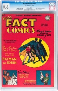 Real Fact Comics #5 (DC, 1946) CGC NM+ 9.6 White pages
