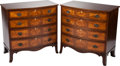 Furniture : English, A PAIR OF GEORGE III-STYLE MAHOGANY PARQUETRY CHESTS OF DRAWERS, circa 1900. 37 x 37 x 21-1/2 inches (94.0 x 94.0 x 54.6 cm)... (Total: 2 Items)