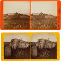 Photography:Stereo Cards, John Brown: Stereoviews of His Home and Grave (Two).... (Total: 2 )