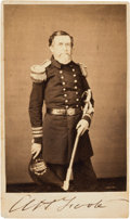 Autographs:Military Figures, Admiral Andrew H. Foote Signed Carte de Visite....
