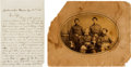 Photography:Cabinet Photos, Union General William Birney and Staff Albumen, with a Lieut.Joseph Prime Autograph Letter Signed.... (Total: 2 )